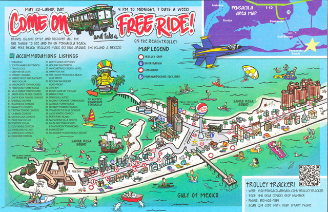 Pensacola Beach Map Maps   Pensacola Beach Vacation Townhome Rental